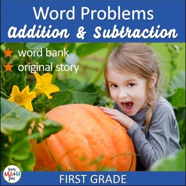 Thanksgiving-word-problems-1st-word-bank #1stgrademath #Thanksgivingactivity #problemsolving