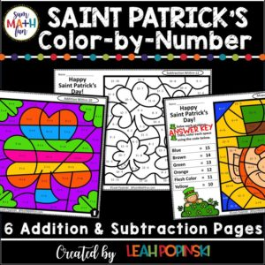 saint-patricks-worksheets-addition-subtraction #saintpatricks #addition #subtraction