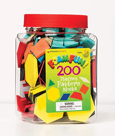 Foam and Magnetic Pattern Blocks for Fraction Work