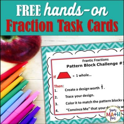 Hands-On Fraction Task Cards {FREE}