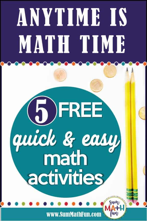 {FREE} Math Time-Fillers That Continue the Learning
