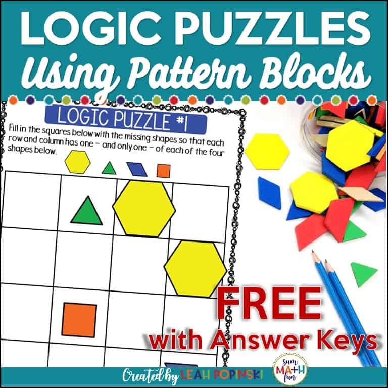 {free}-logic-puzzles--problem-solving-pattern-blocks #problemsolving #logicpuzzles #patternblocks
