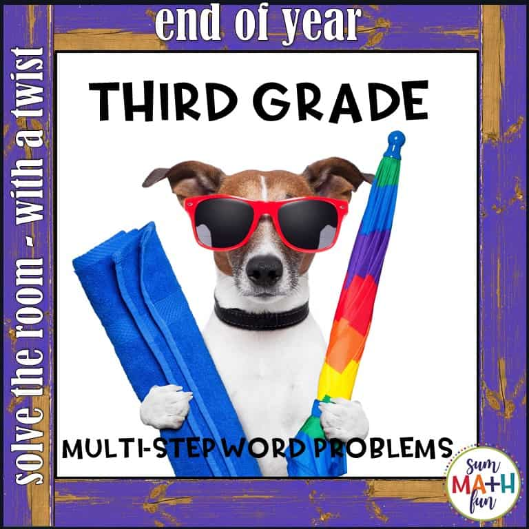 3rd-grade-word-problems-end-of-year #3rdgrade #3rdgrademath #endofyear #wordproblems