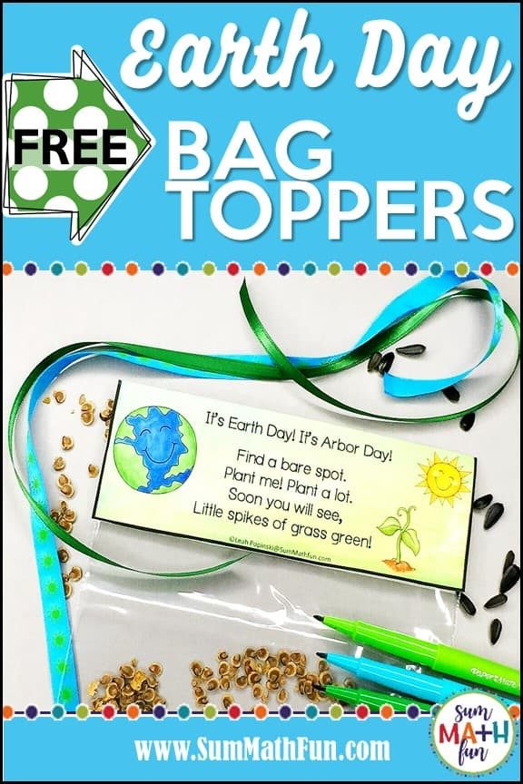 {Free} Earth Day Bag Toppers