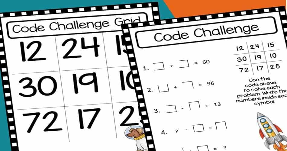 math-differentiated-resources-printables #freemath #earlyfinishers #wordproblems #mathfun