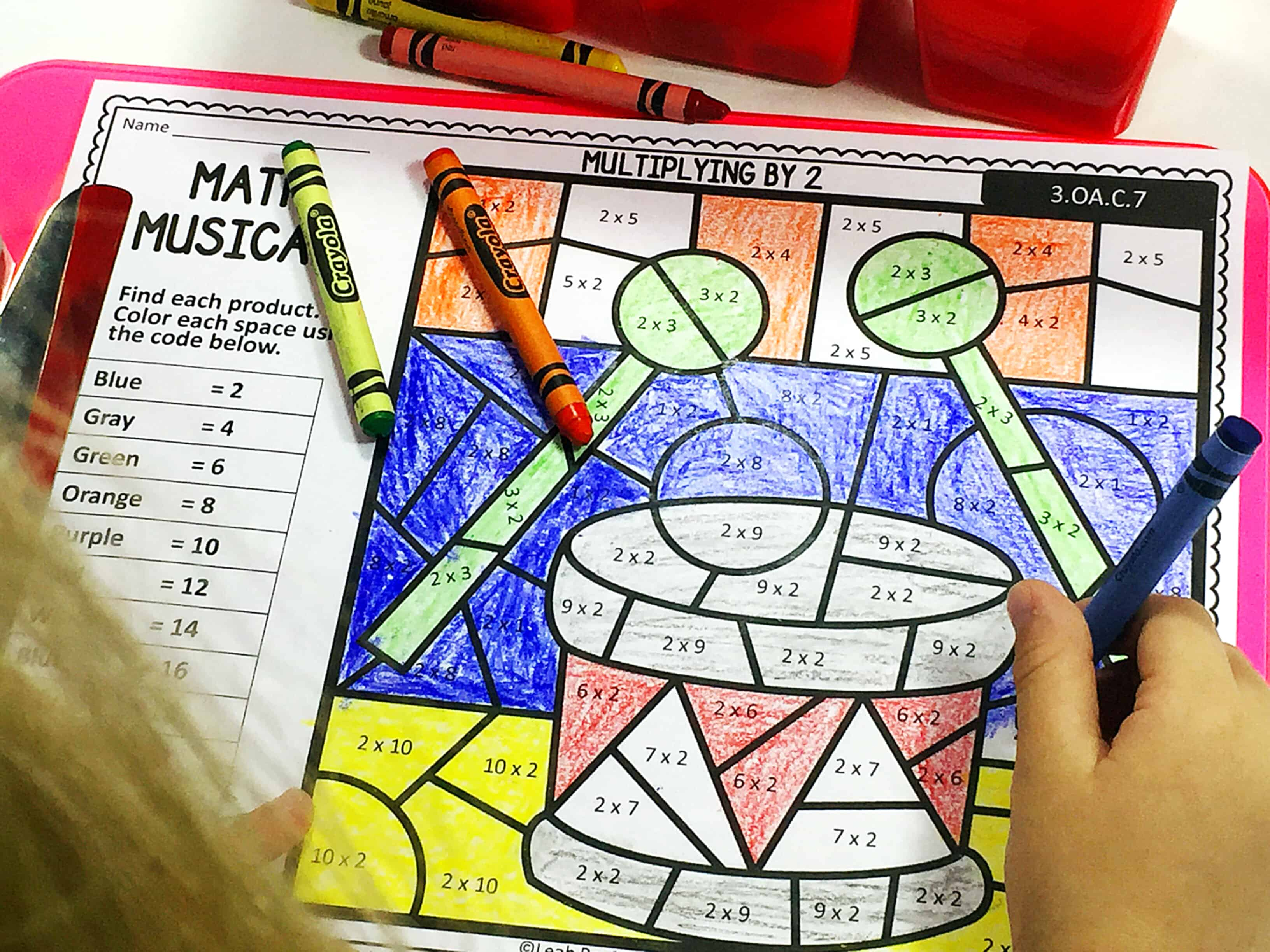 color-by-number-math-printables #colorbynumber #mathprintables #freeprintables