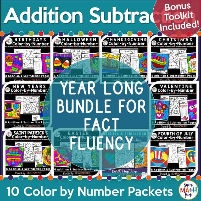 addition-subtraction-worksheets-color-by-code #addition #subtraction #colorbycode #colorbynumber
