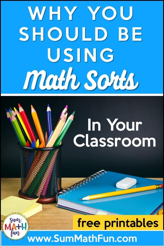 Why You Should Use Math Sorts in Your Classroom