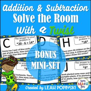 2nd-grade-math-scavenger-hunt #2ndgrademath #secondgrademath