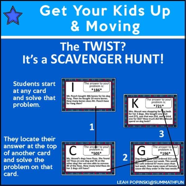 3rd-grade-math-scavenger-hunt #3rdgrademath #thirdgrademath