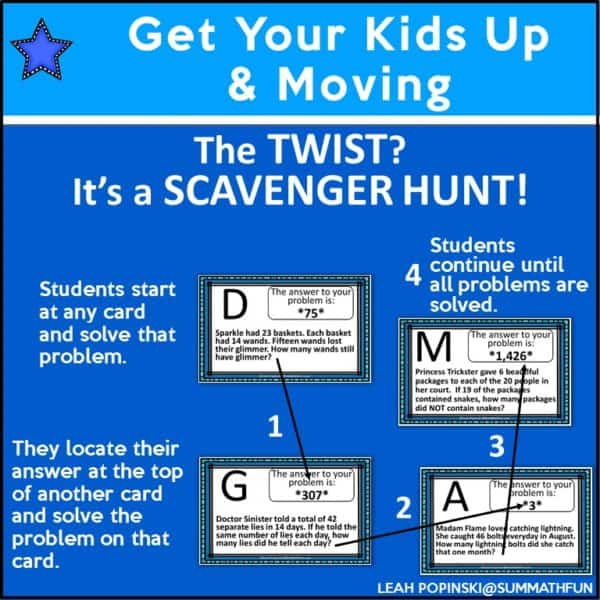 4th-grade-math-scavenger-hunt #4thgrademath #fourthgrademath