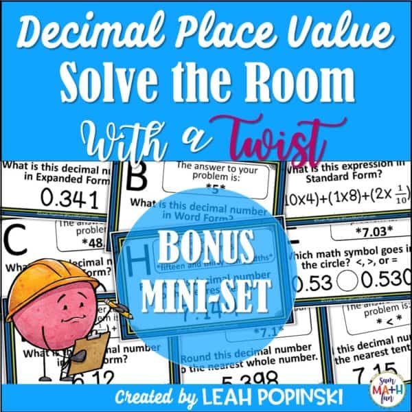 5th-grade-math-scavenger-hunt-decimal-place-value #5thgrademath #fifthgrademath #decimalplacevalue