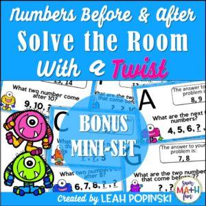 numbers-before-after-kindergarten-first-grade #kindergarten #firstgrade #beforeafter