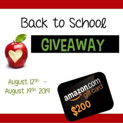 Huge Back to School Giveaway – $200 Amazon Gift Card!
