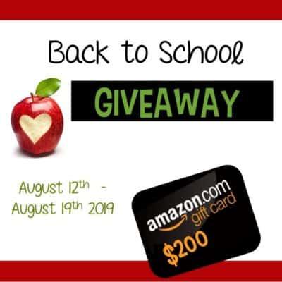 Huge Back to School Giveaway – $200 Amazon Gift Card!