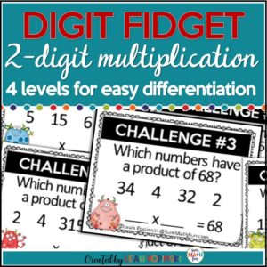 multiplication-task-cards-2-digit-number-sense #multiplication #multiplicationtaskcards
