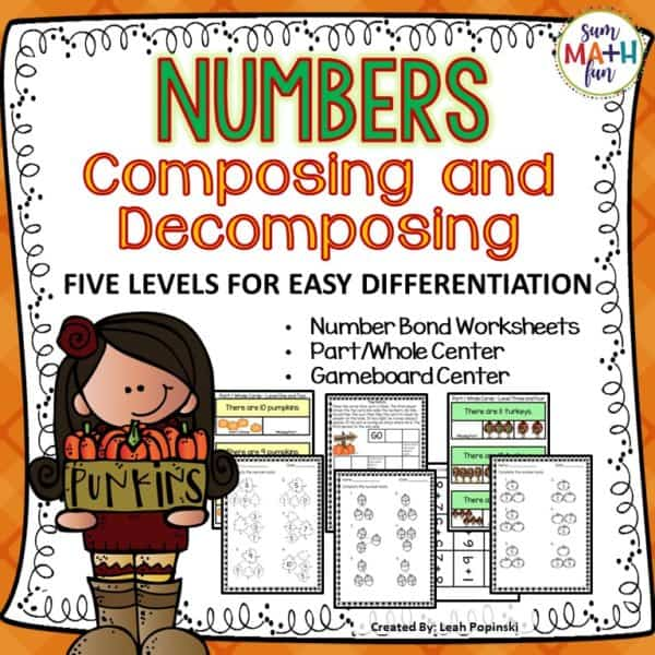 number-bonds-composing-decomposing-first-grade-math #numberbonds #1stgrade