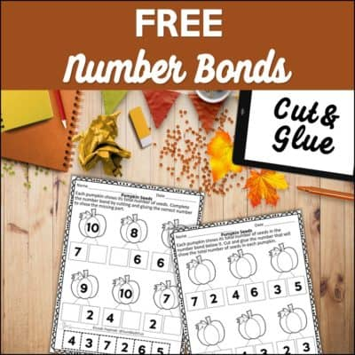 {FREE} Fall Number Bond Worksheets – Cut & Glue