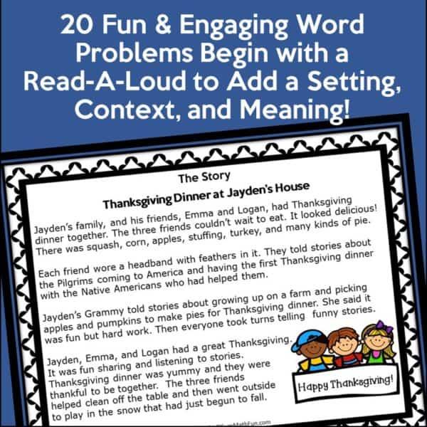 Thanksgiving-2nd-grade-word-problems-graphic-organizer #2ndgrade #Thanksgiving2ndgrade #wordproblems #graphicorganizer