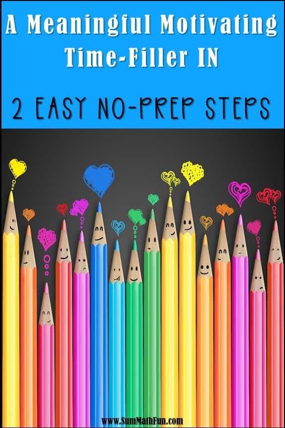 2 Easy Steps to a 100% No-Prep Math Time-Filler