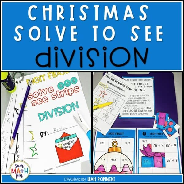 Christmas-Division-Remainders-Hidden Pictures #divisionwithremainders #4thmath