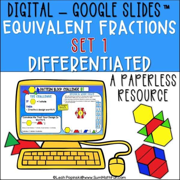 equivalent-fractions-digital-interactive-3rd-4th-5th #equivalentfractions